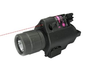 Tactical CREE Q3 LED Flashlight & Red Laser Sight